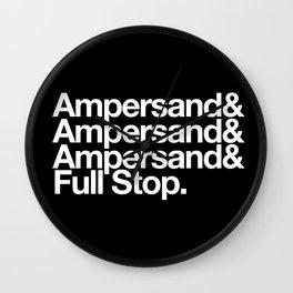 Ampersand & Full Stop Wall Clock