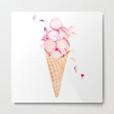 Macaroons Ice Cream Metal Print