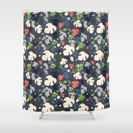 monstera cocktail hour Shower Curtain
