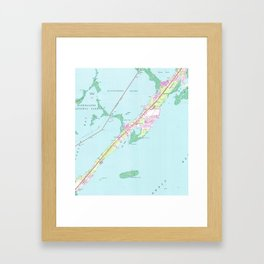 Vintage Rock Harbor Florida Map (1947) Framed Art Print