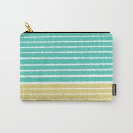 Gold and Aqua Color Teal Carry-All Pouch