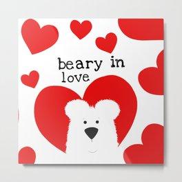 Beary in Love Metal Print