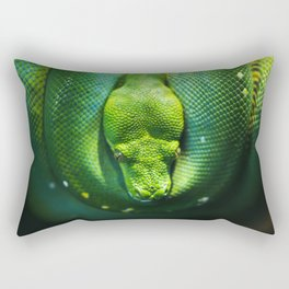 Emerald Tree Boa Rectangular Pillow