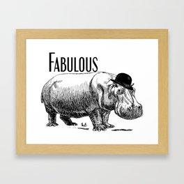 Fabulous Mr Hippo Framed Art Print