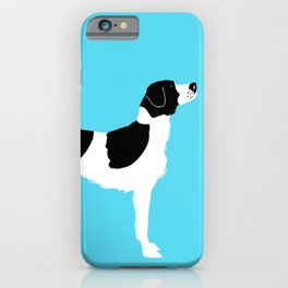 English Springer Spaniel Dog in Black and white color iPhone Case
