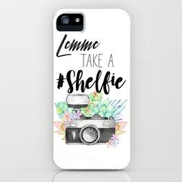 Lemme Take a #Shelfie iPhone Case