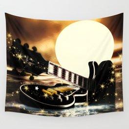 Gitarren bei Vollmond Wall Tapestry