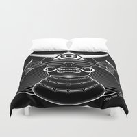 samurai Duvet Covers featuring Samurai by JaymesGraphics