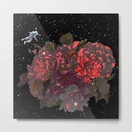 Meet Flowers in Space Metal Print