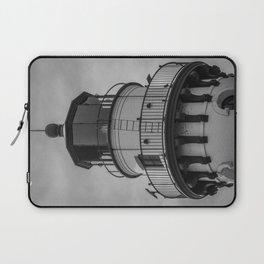 Wind Point Lantern Room Racine Wisconsin Lake Michigan Lighthouse Black and White Laptop Sleeve