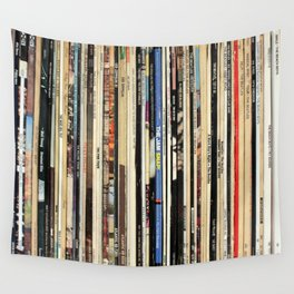 Classic Rock Vinyl Records Wall Tapestry