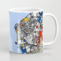 istanbul Mugs featuring Istanbul by Mondrian Maps