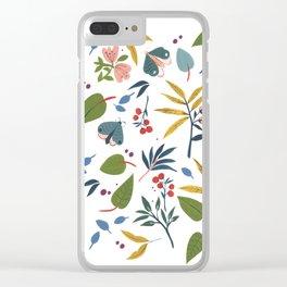 Moth Garden Clear iPhone Case