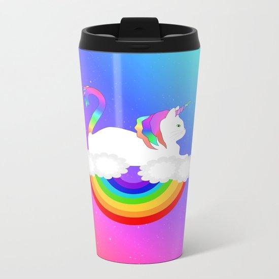Unicorn Cat Metal Travel Mug