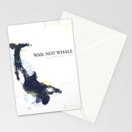 Wail Not Whale Stationery Cards