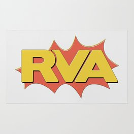 Rva Logo   ' Comic 1 Style ' Rug