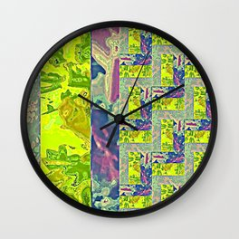 Rose Collage 167 Wall Clock