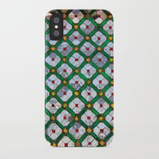 Geometric abstract tiles iPhone X Slim Case