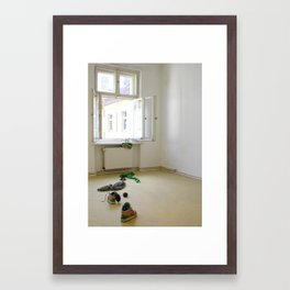 Springtime Defenestration Framed Art Print