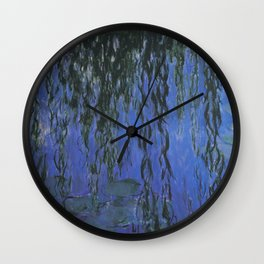 Water Lilies and Weeping Willow Branches by Claude Monet Wall Clock
