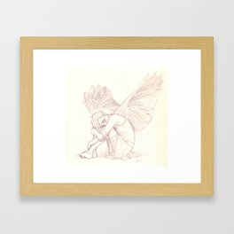 With Wings Framed Art Print