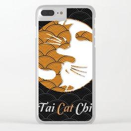 Tai Cat Chi Yin Yang Funny Cute Clear iPhone Case