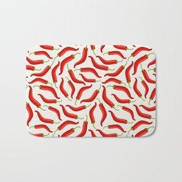 Hot red chili pepper pattern Bath Mat