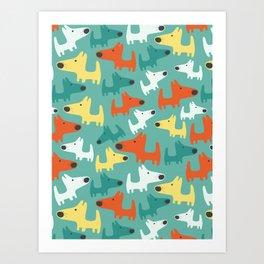 DOGGIES Art Print