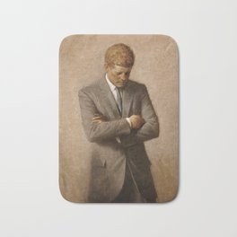 John F. Kennedy Painting Bath Mat