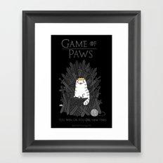 Game of Paws Framed Art Print