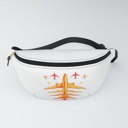 Retro Airplane Vintage Pilot Flying Fanny Pack