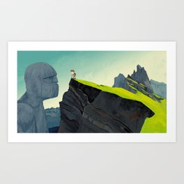 The thing in the mountains Art Print