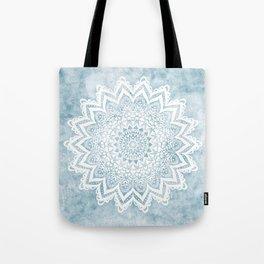 LIGHT BLUE MANDALA SAVANAH Tote Bag