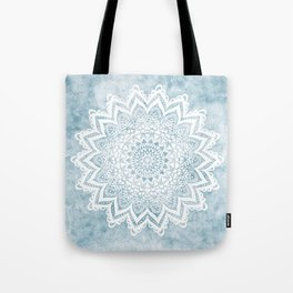 LIGHT BLUE MANDALA SAVANAH Tote Bag