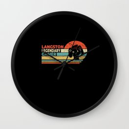 Langston Legendary Gamer Personalized Gift Wall Clock