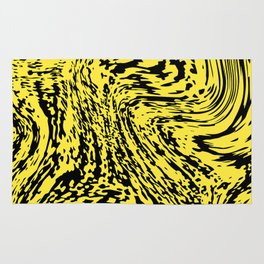 Aggressive yellow marble pattern Rug