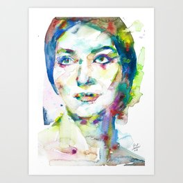 MARIA CALLAS - watercolor portrait.10 Art Print