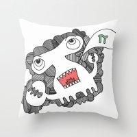 pie Throw Pillows featuring Pie! by DoodledPanda