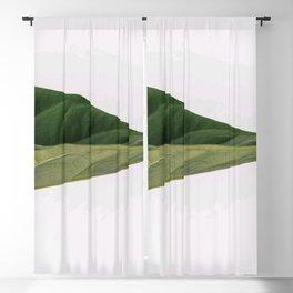 Green Leaf Macro Close Up Blackout Curtain