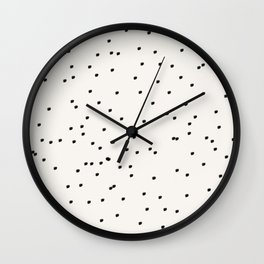 Dashing Dots Pattern Wall Clock