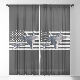 F-22 (Black Flag) Sheer Curtain