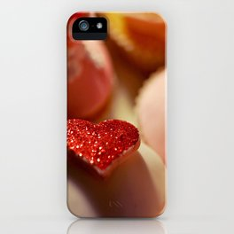 heart cupcakes iPhone Case