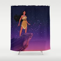 pocahontas Shower Curtains featuring Pocahontas ♥ by Vita♥G