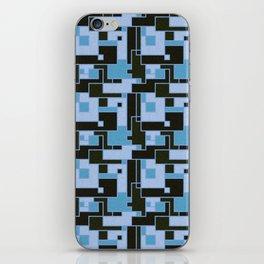 Building Blocks Black and Blue iPhone Skin