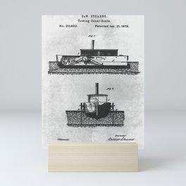 1879 Towing canal-boats Mini Art Print