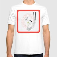 Ethernal Catharsis MEDIUM White Mens Fitted Tee