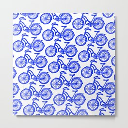 roule ma poule - wanna ride my bicycle BLUE Metal Print