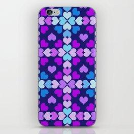 Ultra-Violet Heart Quilt iPhone Skin