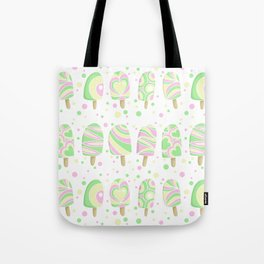 Summer pastel ice lollies Tote Bag