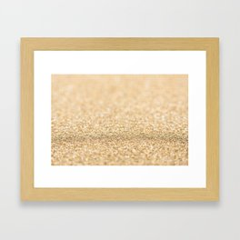 Beautiful champagne gold glitter sparkles Framed Art Print